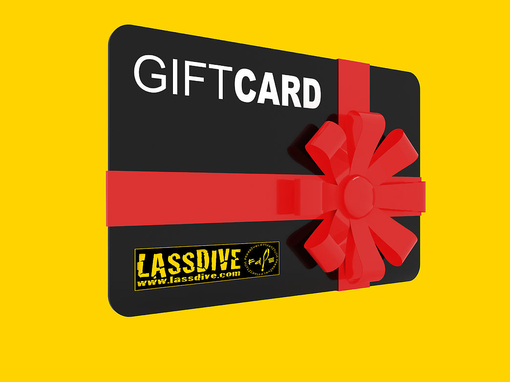 Lassdive's Gift Card, the card giving experiences