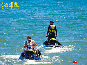 Enjoy Lassdive's jetski tours with your family!