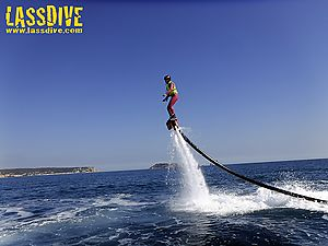 Flyboard, the fashionable water sport
