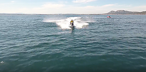 Can you find the words after watching the video of Lassdive's jet ski tours?